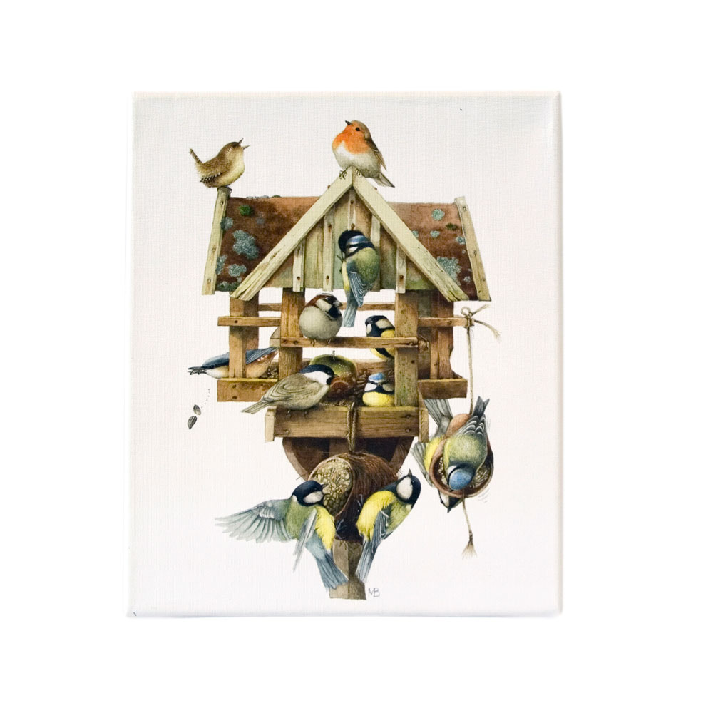 Canvas tekening Voederhuis - Marjolein Bastin