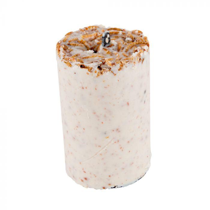 Pindacake met meelwormen