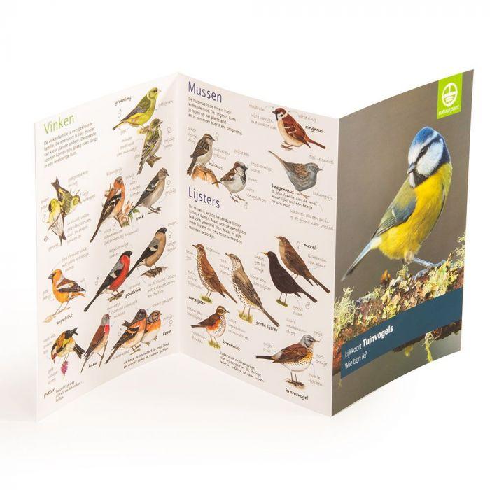 Natuurpunt kijkkaart Tuinvogels