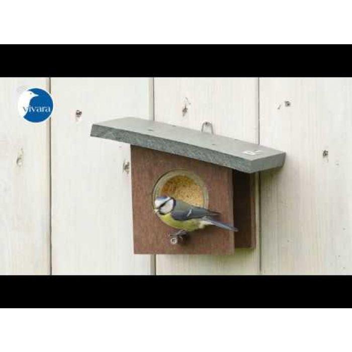 Pindakaas voor tuinvogels met insecten