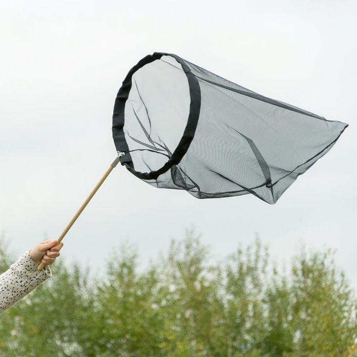 Vlindernet zwart 40 cm - opklapbare beugel