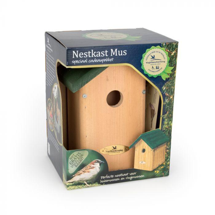 Nestkast voor de Huismus 34 mm
