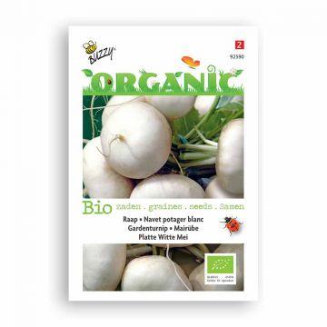 Buzzy® Organic Rapen Plat Wit Mei (BIO)