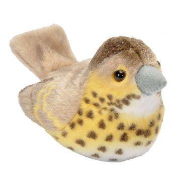 Vogelknuffel met geluid – Zanglijster