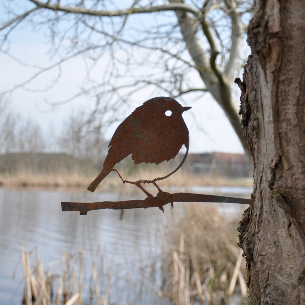 Metalbird roodborst