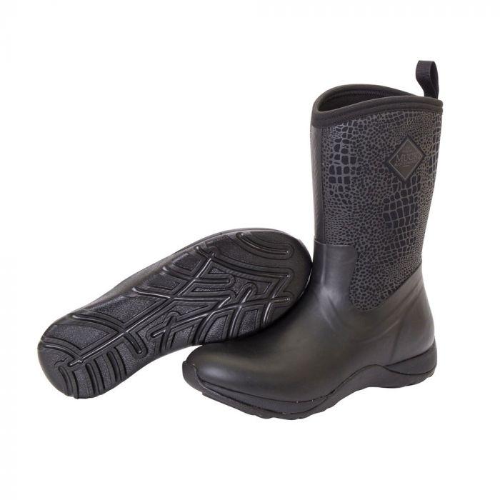 Muck Boot Arctic Weekend zwart/croco print dameslaars