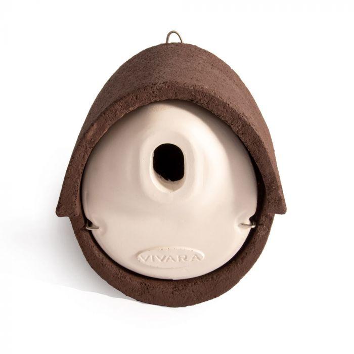 Nestkast Alicante WoodStone ovale invliegopening Bruin