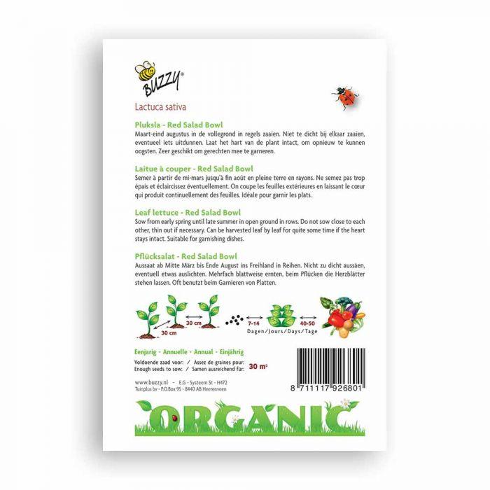 Buzzy® Organic Pluksla rood Salad Bowl (BIO)