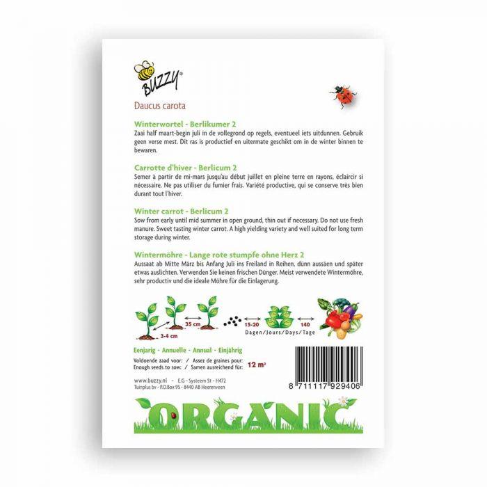 Buzzy® Organic Winterwortelen Berlik 2 (BIO)