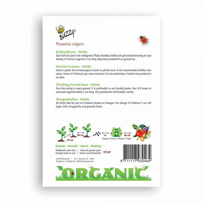 Buzzy® Organic Stoksnijbonen Helda (BIO)