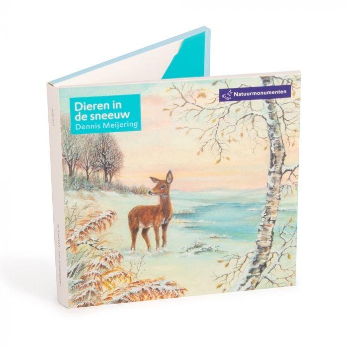Natuurmonumenten kaartenset dieren in de sneeuw Dennis Meijering