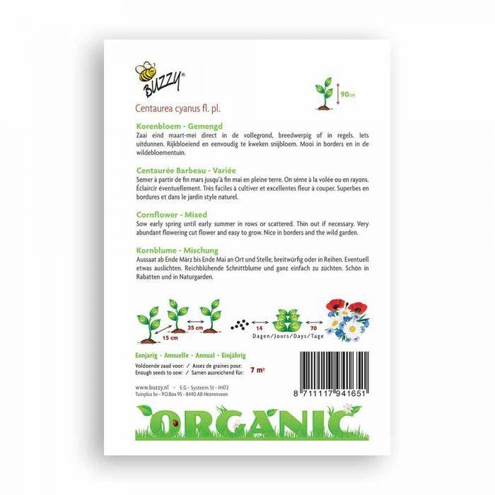 Buzzy® Organic Korenbloem Mix (BIO)