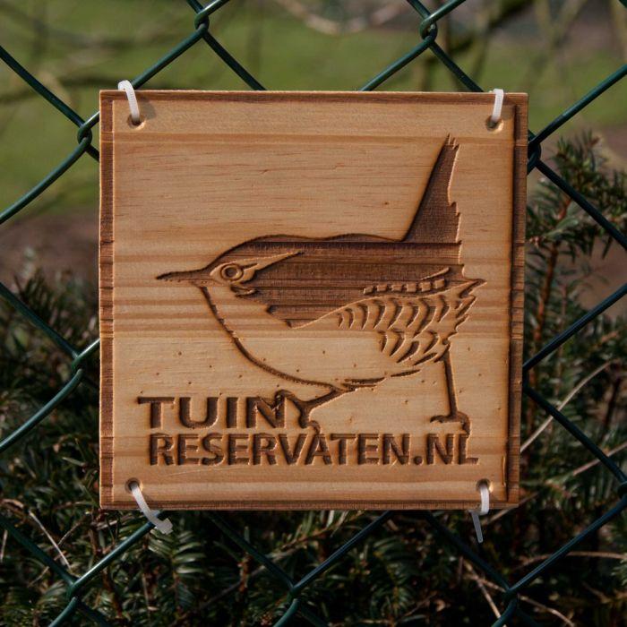 Bordje Tuinreservaten