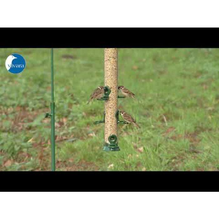 Voedersilo Metaal 56 cm groen