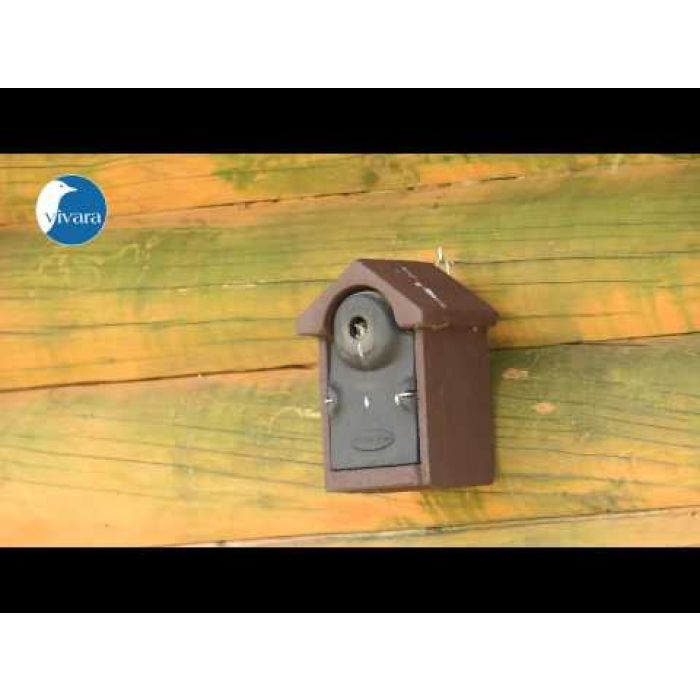 Nestkast Bilbao WoodStone bruin ovale invliegopening