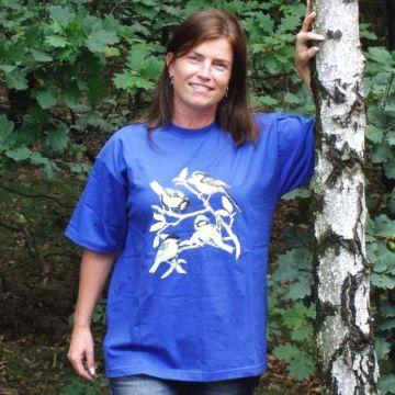 T-shirt met mezenprint S