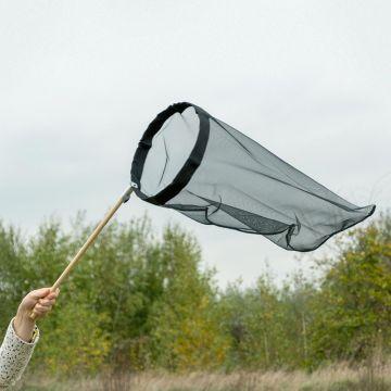 Vlindernet zwart 30 cm - opklapbare beugel